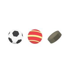 Cartoon colorful ball set sport balls vector