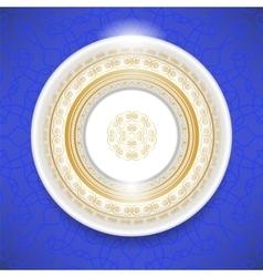 Ceramic Ornamental Plate vector