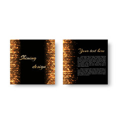 christmas leaflet with golden light vector image