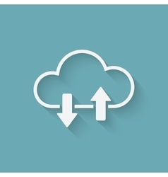 Cloud download and upload concept symbol vector image