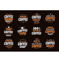 Coffee logo labels and icons Collection vector