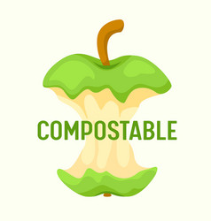 Compostable waste concept organic trash food vector