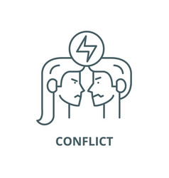 Conflict line icon linear concept outline vector