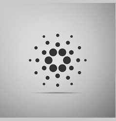 Cryptocurrency coin cardano ada icon isolated on vector