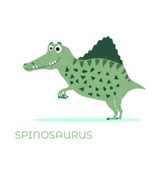 cute dinosaur spinosaurus cartoon drawn for tee vector image