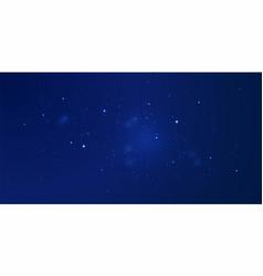 dark starry sky astrology backdrop with nebula vector image
