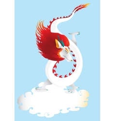 Dragon in the sky with cloud vector image