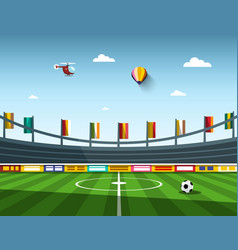Empty football - soccer stadium vector
