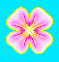fantastic neon flower abstract shape with lots of vector image