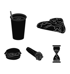 fast meal eating and other web icon in black vector image