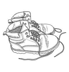 fatigue boots vector image