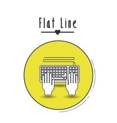 Flat line icon design vector