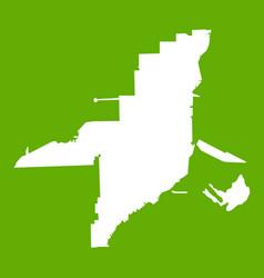 Florida map icon green vector