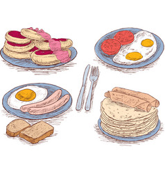 food for a breakfast vector image