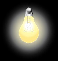 Glowing light bulb vector