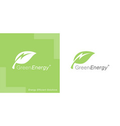 green energy leaf logo icon vector image