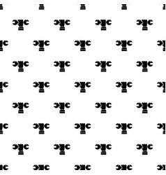 hand wrench pattern seamless vector image
