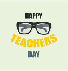 happy teachers day poster or banner fot your vector image