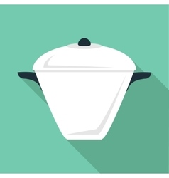 High pan icon flat style vector
