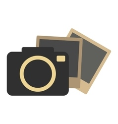 Hipster retro photo camera icon vector