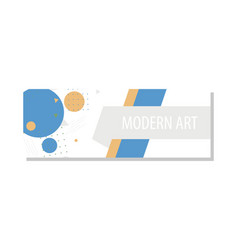 Horizontal white banners with triangular shapes vector
