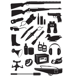 Icon hunting vector