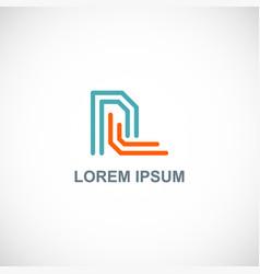 line letter r company logo vector image