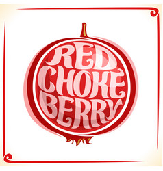 Logo for red chokeberry vector