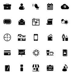 Mobile icons on white background vector image