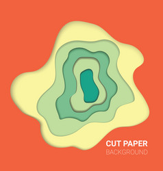 multi layers color texture 3d papercut layers in vector image