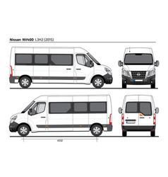 Nissan nv400 passenger van l3h2 2015 vector