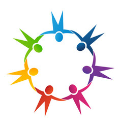 People group team united together icon symbol vector