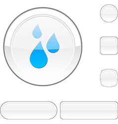 Rain white button vector