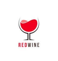red wine logo template vector image