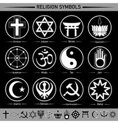 Religion symbols vector