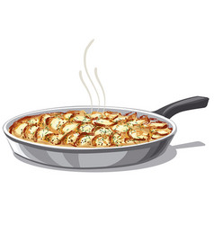 Roasted baked potatoes vector