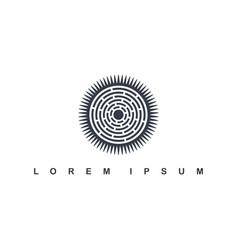 round circle native tribe sign symbol logo vector image