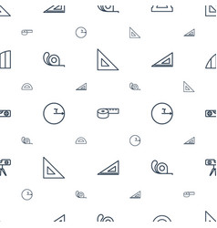 Ruler icons pattern seamless white background vector