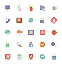 Security colored icons 2 vector