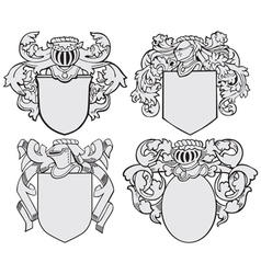 set aristocratic emblems no5 vector image