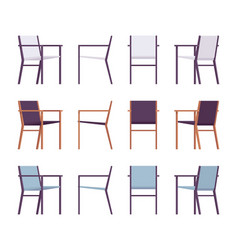 Set of retro armchairs in differnt colors vector