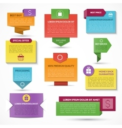 Set of web elements Labels tags banners vector