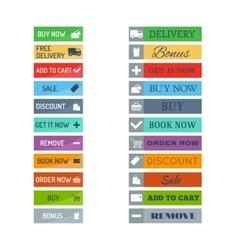 Shop buttons set vector image
