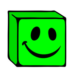 smile cube face vector image