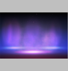 smoke on stage with lights vector image
