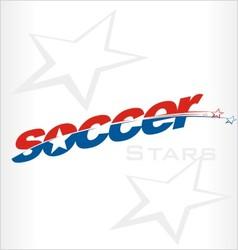 Soccer logo soccer word vector image