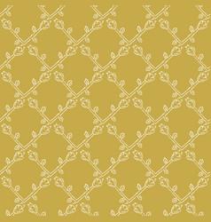 Stylized flower trellis seamless pattern vector