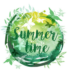 summer watercolor abstract background vector image