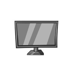 TV icon black monochrome style vector image