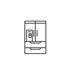 wardrobe closet line icon sign vector image